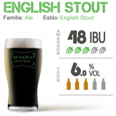 Kit Para Produzir 30 Litros de English Stout (Foreign Stout)